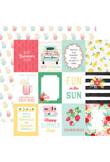 Carta Bella CB Paper Summer Market 3X4 Journaling Cards