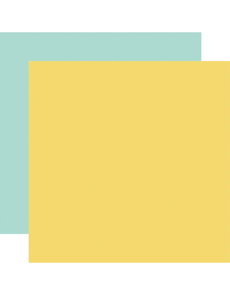 Carta Bella CB Paper Summer Market Yellow / Blue -Coordinating Solid