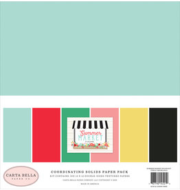 Carta Bella CB Paper Pack Summer Market Summer Market Solids Kit