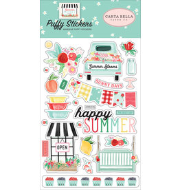 Carta Bella CB  Summer Market Puffy Stickers