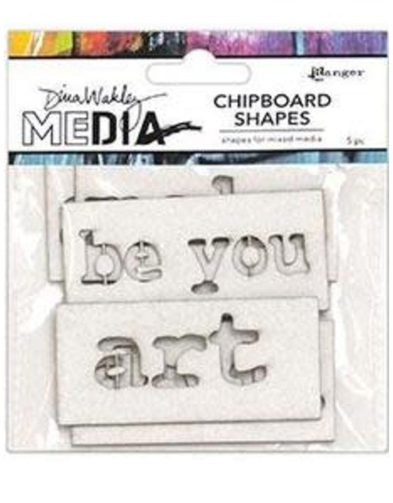 RANGER Ranger Dina Wakley Chipboard Shapes Words
