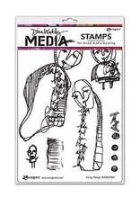 RANGER Ranger Dina Wakley Stamps Funny Peeps