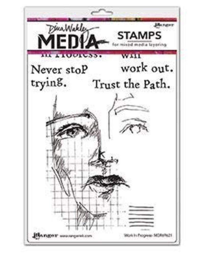 RANGER Ranger Dina Wakley Stamps Work in Progress