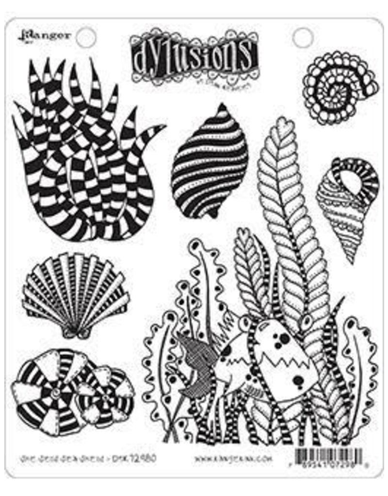 RANGER Dylusions Stamp She Sells Sea Shells