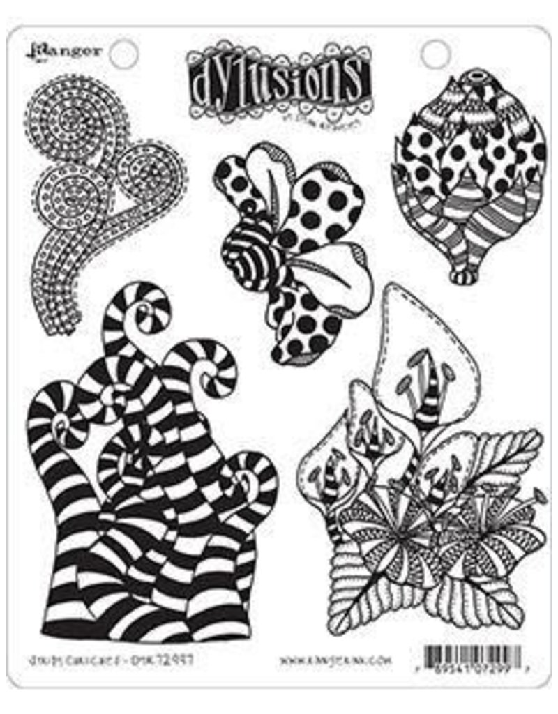 RANGER Dylusions Stamp Stripy Curlicues