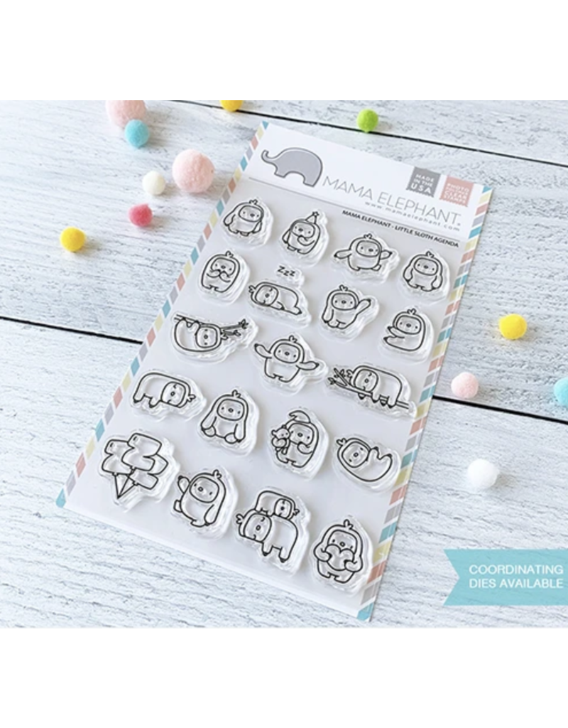 Mama elephant ME Stamp: Little Sloth Agenda