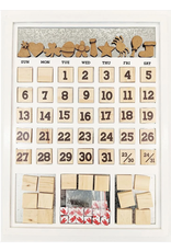 Foundations Decor FD Magnetic Calendar: White