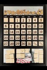Foundations Decor FD Magnetic Calendar: Black