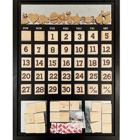Foundations Decor FD Magnetic Calendar: Black
