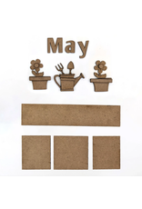 Foundations Decor FD May Monthly Calendar Kit