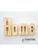 Foundations Decor FD HOME letters
