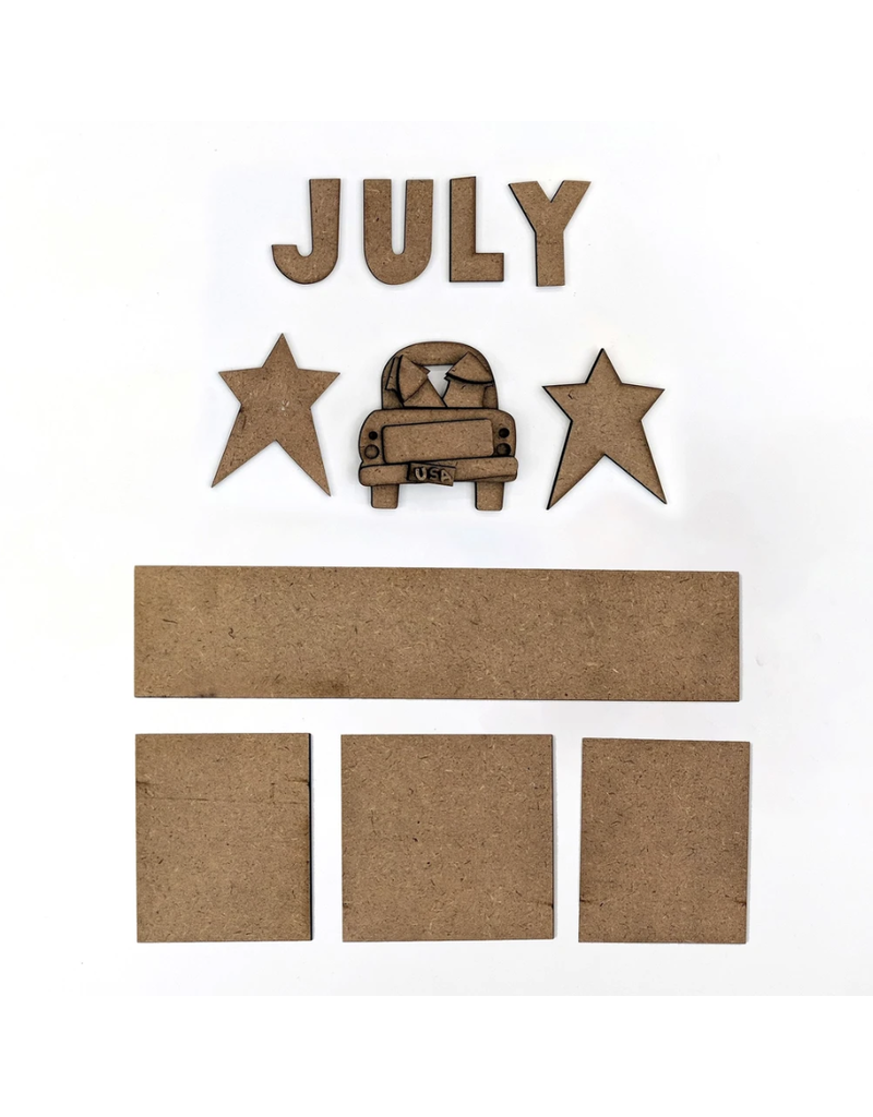 Foundations Decor FD July Monthly Calendar Kit