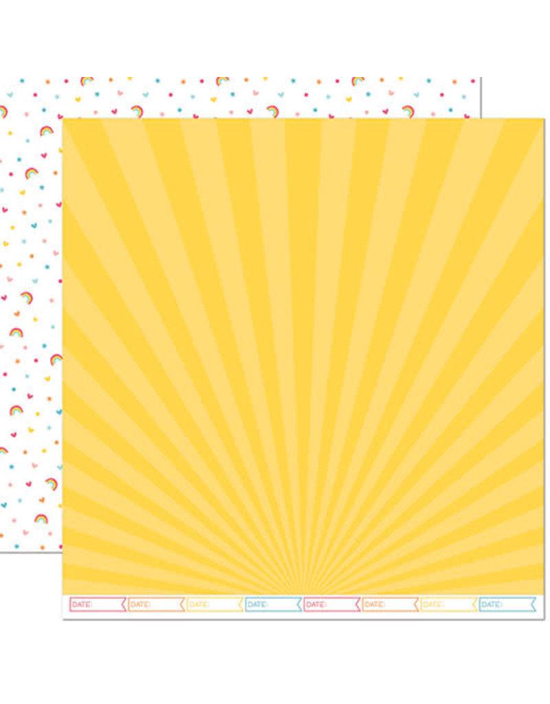 lawn fawn LF Paper hello sunshine remix - april remix