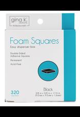 gina k designs Gkd Foam Squares Black