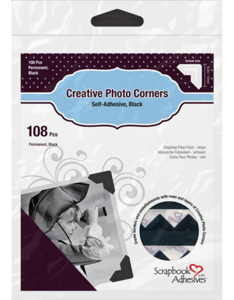 3L 3L Photo Corners Black