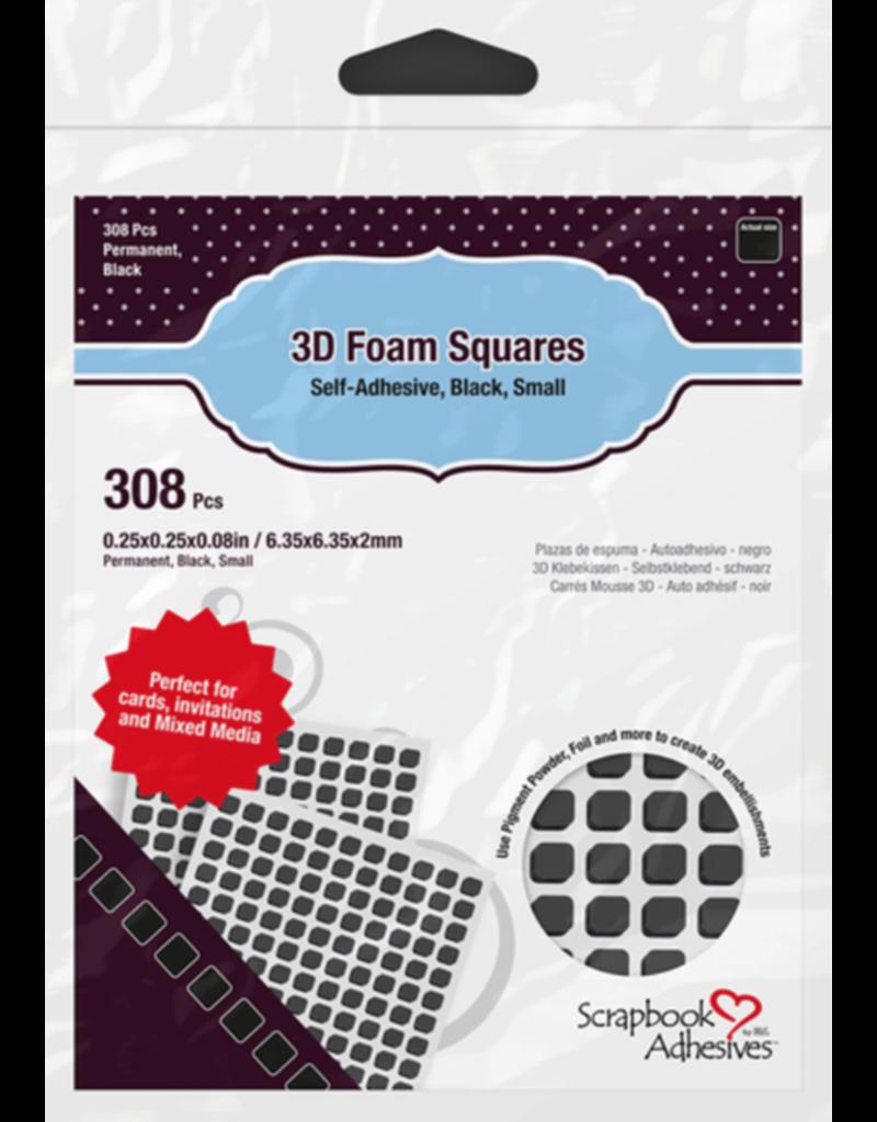 PETERSON-A 3L 3D Black Foam Squares 308 pieces .08 thick