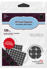 PETERSON-A 3L 3D Black Foam Squares .08 thickness