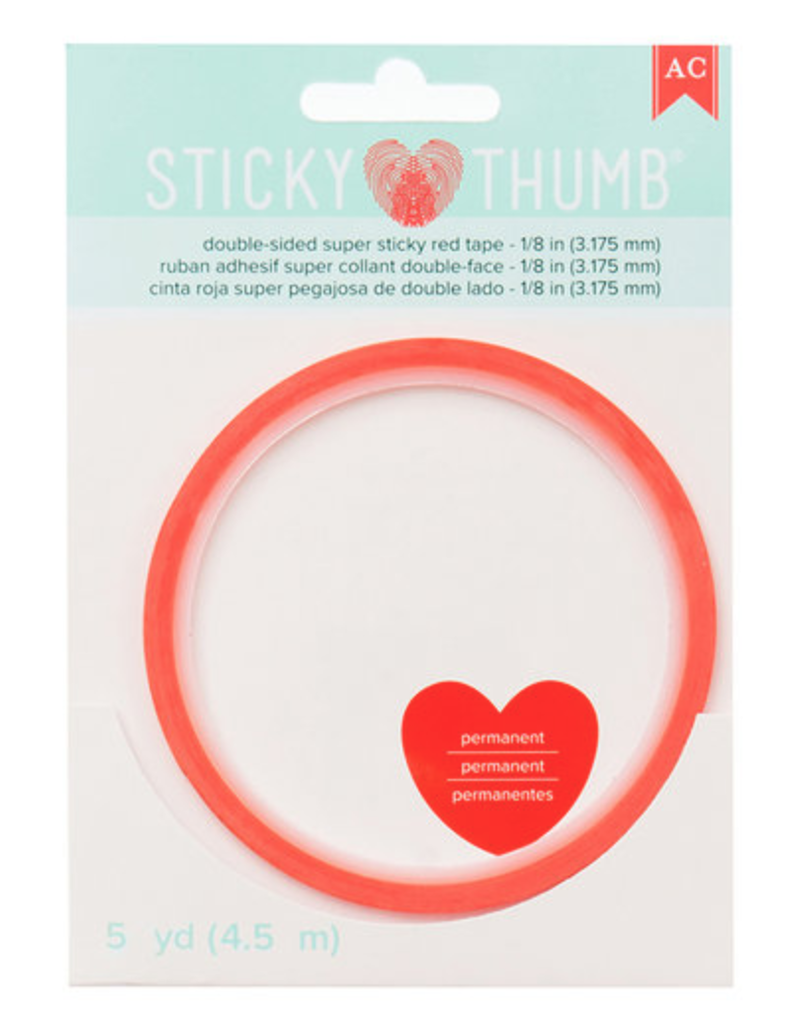 american crafts Ac Sticky Thumb Red Tape 1/8