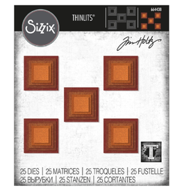 sizzix Sizzix TH Thinlits Die: Stacked Tiles, Squares