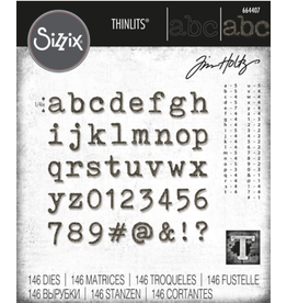 sizzix Sizzix TH Die Geo Alphanumeric Tiny Type Lower