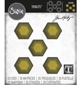 sizzix Sizzix TH Die Stacked Tiles, Hexagon