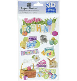 paper house PH 3D Sticker Easter Egg Hunt