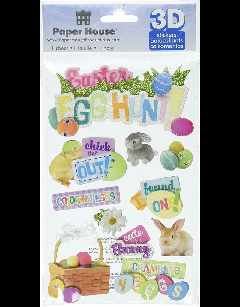 paper house PH 3D Sticker Easter Egg Hunt