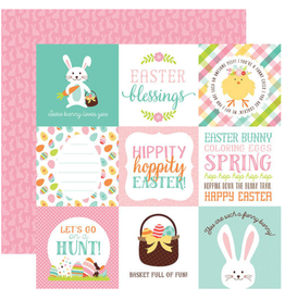 Echo Park Ep Paper Hello Easter: 4X4 Journaling Cards
