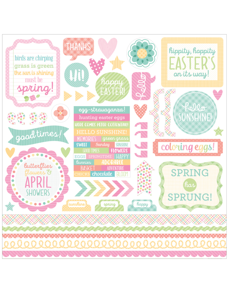 DOODLEBUG DddoleBug Sticker Sheet: Spring Things 12x12