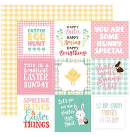 Echo Park Ep Paper Easter Wishes: 4X4 Journal Card
