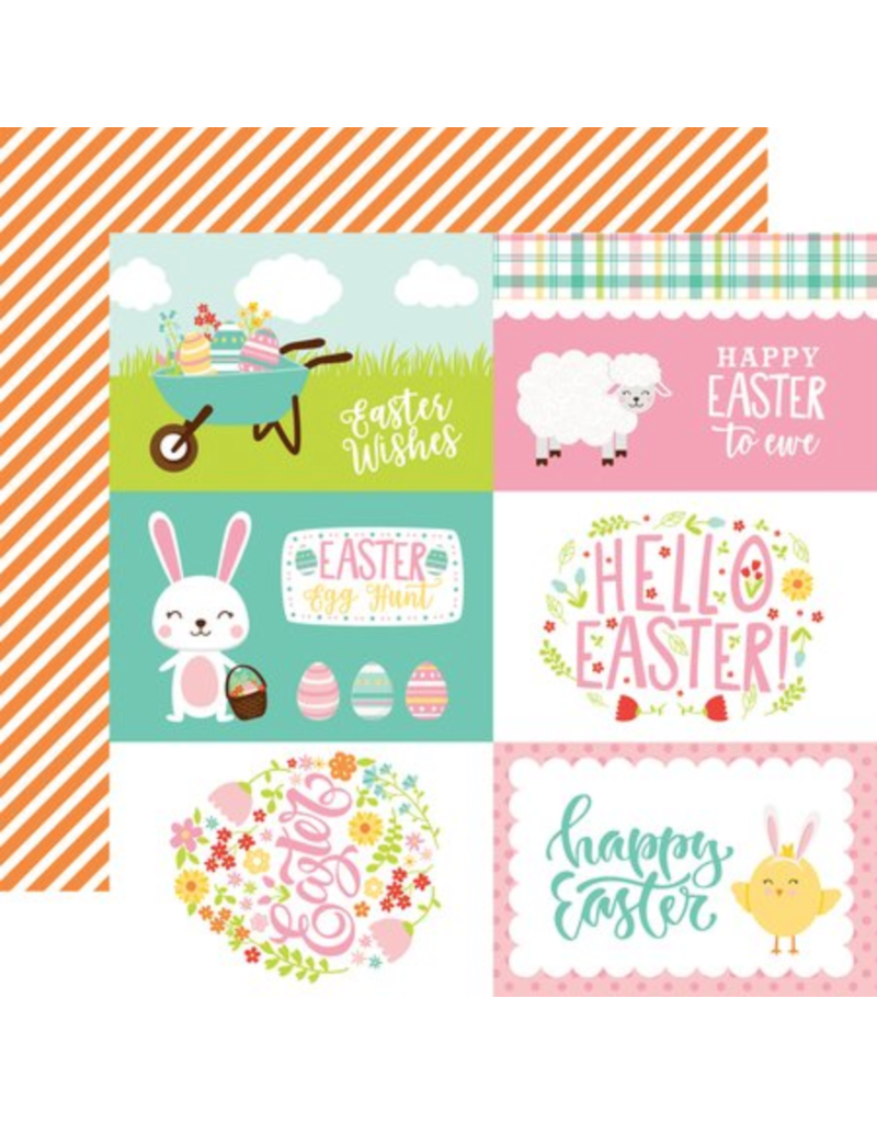 Echo Park Ep Paper Easter Wishes: 4X6 Journal Card