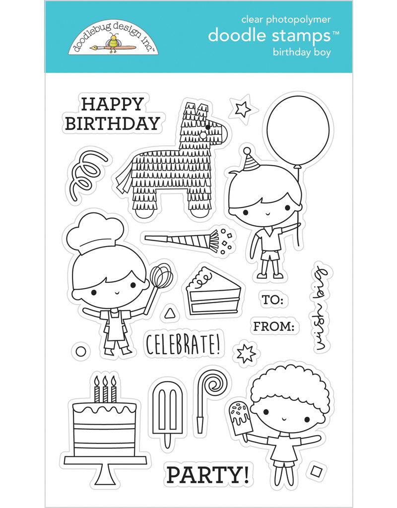 DOODLEBUG Doodlebug party time birthday boy doodle stamps