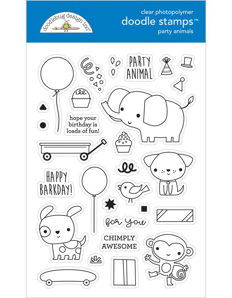 DOODLEBUG Doodlebug party time party animals - boy doodle stamps