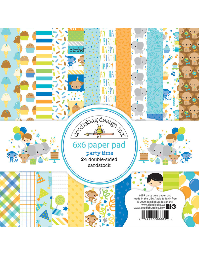 DOODLEBUG Doodlebug party time 6x6 paper pad