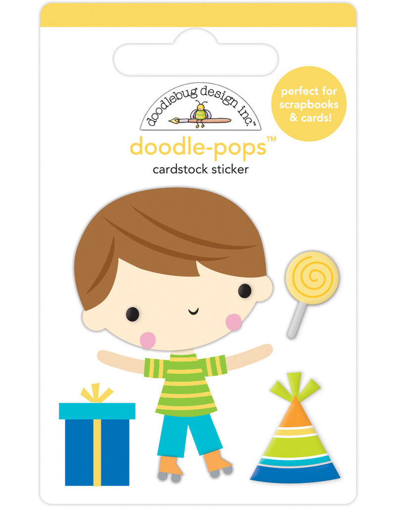 Doodlebug party time birthday boy doodle-pops