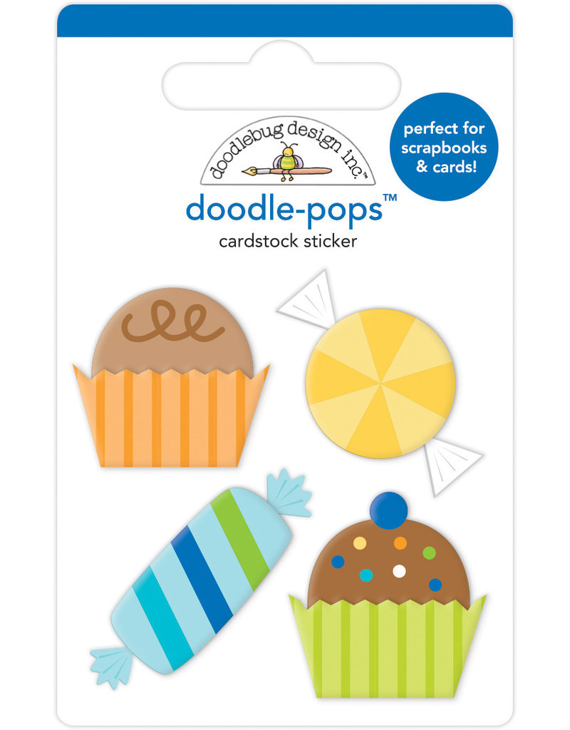 Doodlebug party time party favors doodle-pops