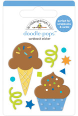 DOODLEBUG Doodlebug party time cake & ice cream doodle-pops