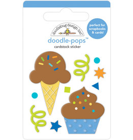 DOODLEBUG Doodlebug party time cake & ice cream doodle-pops