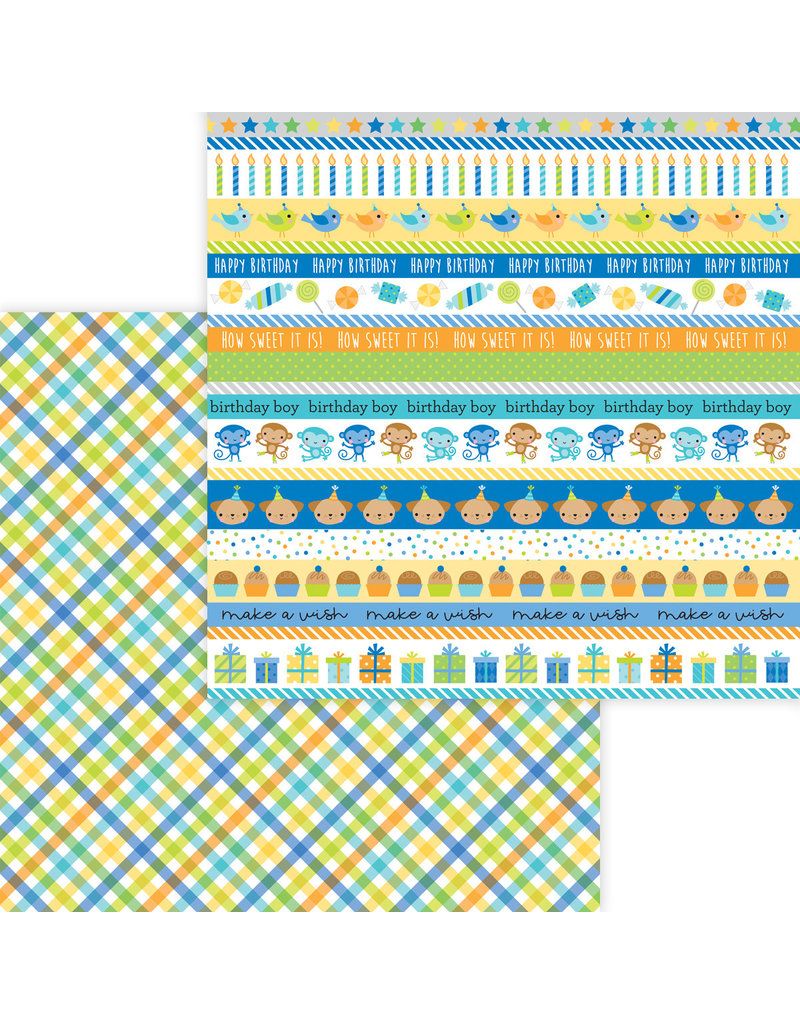 DOODLEBUG Doodlebug party time party boy double-sided cardstock