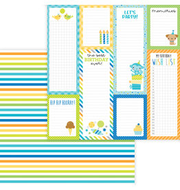 DOODLEBUG Doodlebug party time wrap it up double-sided cardstock
