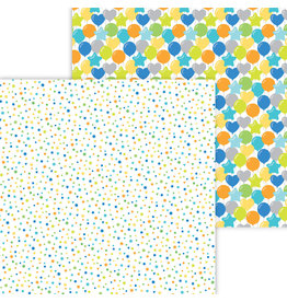 DOODLEBUG Doodlebug party time confetti fest double-sided cardstock