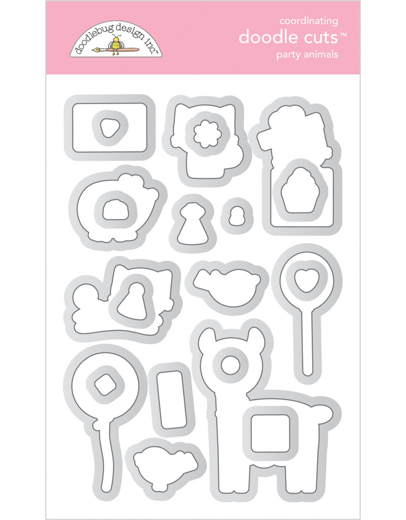 DOODLEBUG Doodlebug hey cupcake party animals - girl doodle cuts