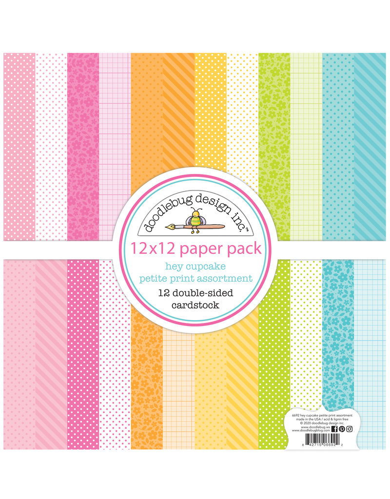 DOODLEBUG Doodlebug hey cupcake petite print assortment pack