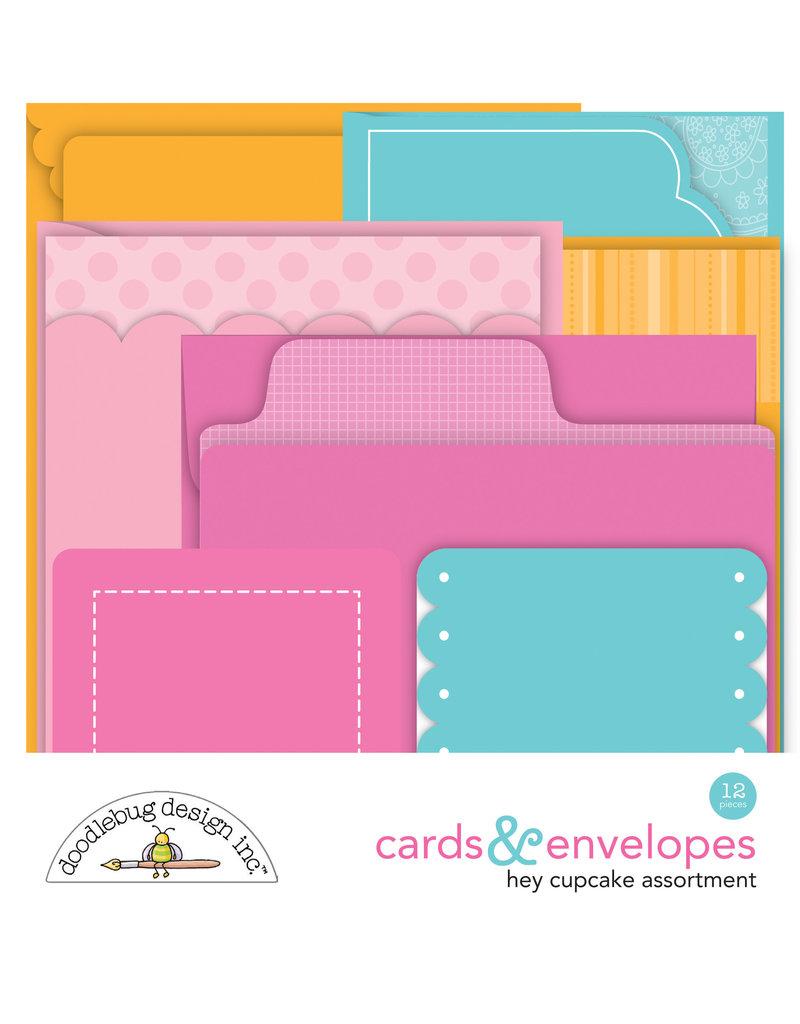 DOODLEBUG Doodlebug hey cupcake cards & envelopes