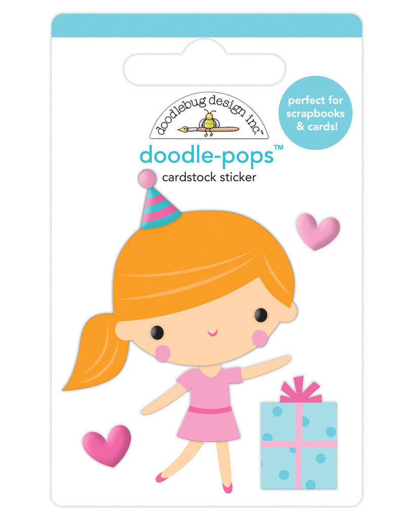 Doodlebug hey cupcake party girl doodle-pops
