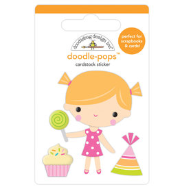 Doodlebug hey cupcake birthday girl doodle-pops