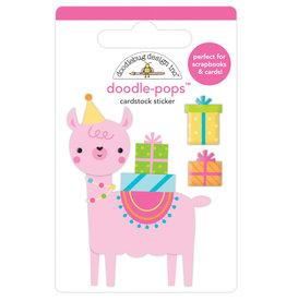 Doodlebug hey cupcake party llama doodle-pops