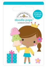 Doodlebug hey cupcake birthday princess doodle-pops