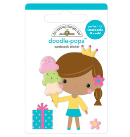 Doodlebug hey cupcake birthday princess doodle-pops