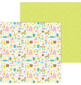 DOODLEBUG Doodlebug hey cupcake birthday girl double-sided cardstock